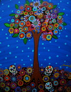 Tree Paintings - Day Of The Dead by Pristine Cartera Turkus