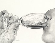 Wine Drawings - Earthy by Mark Treick