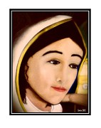 Catholic Icon Framed Prints - Madonna Framed Print by Juan Pablo Santos