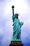 {locations} Posters - Statue of Liberty Poster by Sami Sarkis