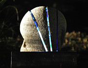 Glass Sculpture Sculpture Prints - Untitled Glass And Rock Sculpture Print by Tommy  Urbans