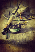 Sandra Cunningham - Fly fishing equipment with old hat on...