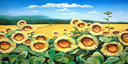 Sunflowers Fine Art Print by Gina De Gorna