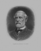 Portrait Drawings Framed Prints - General Robert E. Lee Framed Print by War Is Hell Store