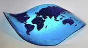 Australia Glass Art - Warped Atlas by Michelle Ferry