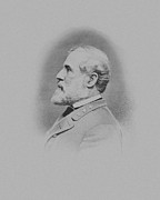 American History Mixed Media Prints - General Robert E Lee Print by War Is Hell Store