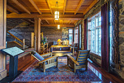Cabin Window Photos - The Lobby Of The Paradise Inn In Mount by Rob Tilley