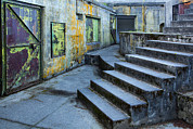 Graffiti Steps Prints - Untitled Print by Mel Curtis