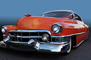 Photomanipulation Prints - 54 Cadillac de Ville Print by Bill Dutting