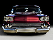Red Chevrolet Prints - 58 Impala Custom Print by Douglas Pittman