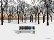 Walter Neal - A City Bench In Winter