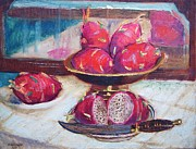 Table Cloth Paintings - A Fruity Fruit by Bill Joseph  Markowski