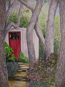 Shed Painting Prints - A Getaway on Tybee Print by Brad Hook