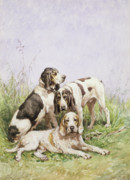 Charles Oliver de Penne - A Group of French Hounds