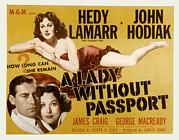 Fid Posters - A Lady Without Passport, John Hodiak Poster by Everett