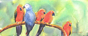 On A Branch Paintings - A New Slant on Life by Debbie  Lewis