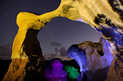 Escalante Grand Staircase Posters - A Night at Metate Arch Poster by Keith Kapple