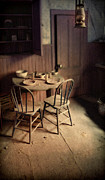 Kitchen Plates Acrylic Prints - Abandoned Kitchen Acrylic Print by Jill Battaglia