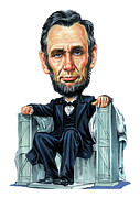 United States Of America Paintings - Abraham Lincoln by Art