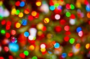 Holidays Celebration - Abstact Christmas Lights by Bill Brennan