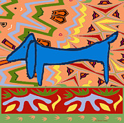 Jerry Schwehm - Abstract Blue Dachshund