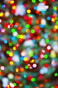 Holidays Celebration - Abstract Christmas Lights by Bill Brennan