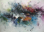 Landscap Painting Originals - Abstract Seascape00117 by Seon-Jeong Kim