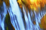 Restoration Digital Art Prints - Abstract Waterfalls Print by Keith Kapple