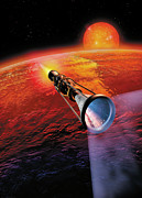 Alien World Prints - Across the Sea of Suns Print by Don Dixon