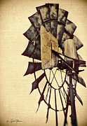 Windmill Posters - Aerator Poster by LeAnne Thomas