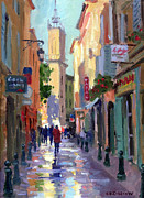 French Shops Paintings - After the Rain by Roelof Rossouw