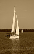 Suzanne Gaff - Afternoon for Sailing in sepia