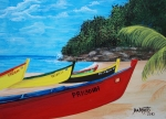 Aguadilla Prints - Aguadilla Crashboat Beach Print by Gloria E Barreto-Rodriguez
