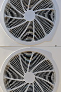 Air Conditioner Framed Prints - Air-conditioner rear fans Framed Print by Sami Sarkis