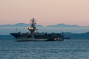 Matt Dobson - Aircraft Carrier at Sunset - USS Ronald...