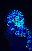Awareness Posters - Al in the mind black light view Poster by Lisa Brandel