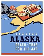 United States Government Framed Prints - Alaska Death Trap Framed Print by War Is Hell Store