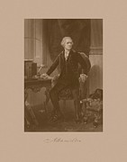 Politicians Prints - Alexander Hamilton Sitting At His Desk Print by War Is Hell Store