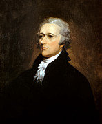 American Revolution Painting Framed Prints - Alexander Hamilton Framed Print by War Is Hell Store
