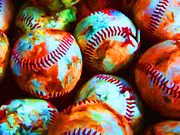 Wingsdomain Art and Photography - All American Pastime - Pile of...