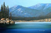 Frank Wilson Prints - Alpine Lake Print by Frank Wilson