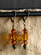 Daytime Jewelry - Amber Cubes by Jan  Brieger-Scranton