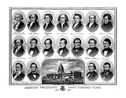 Washington Dc Drawings - American Presidents First Hundred Years by War Is Hell Store