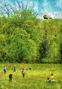 Sports Photos - Americana - People - Lets go fly a kite by Mike Savad