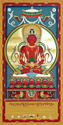 Thangka Paintings - Amitayus by Sergey Noskov