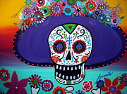 Dia De Los Muertos Paintings - Amor Catrina by Pristine Cartera Turkus