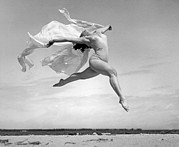 Bathing Photos - An Exuberant Dance To Spring by Underwood Archives