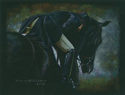 Horse And Riders Prints - And the Winner is... Print by Deb Richter