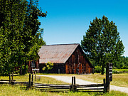 Fences Prints - Anderson Valley Barn Print by Bill Gallagher