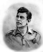 Andy Griffith Drawings - Andy by Bev Newcomer